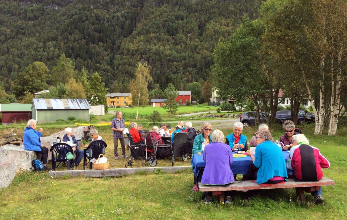Stort kaffelag i Småbåthamna. Foto: Dordi J H