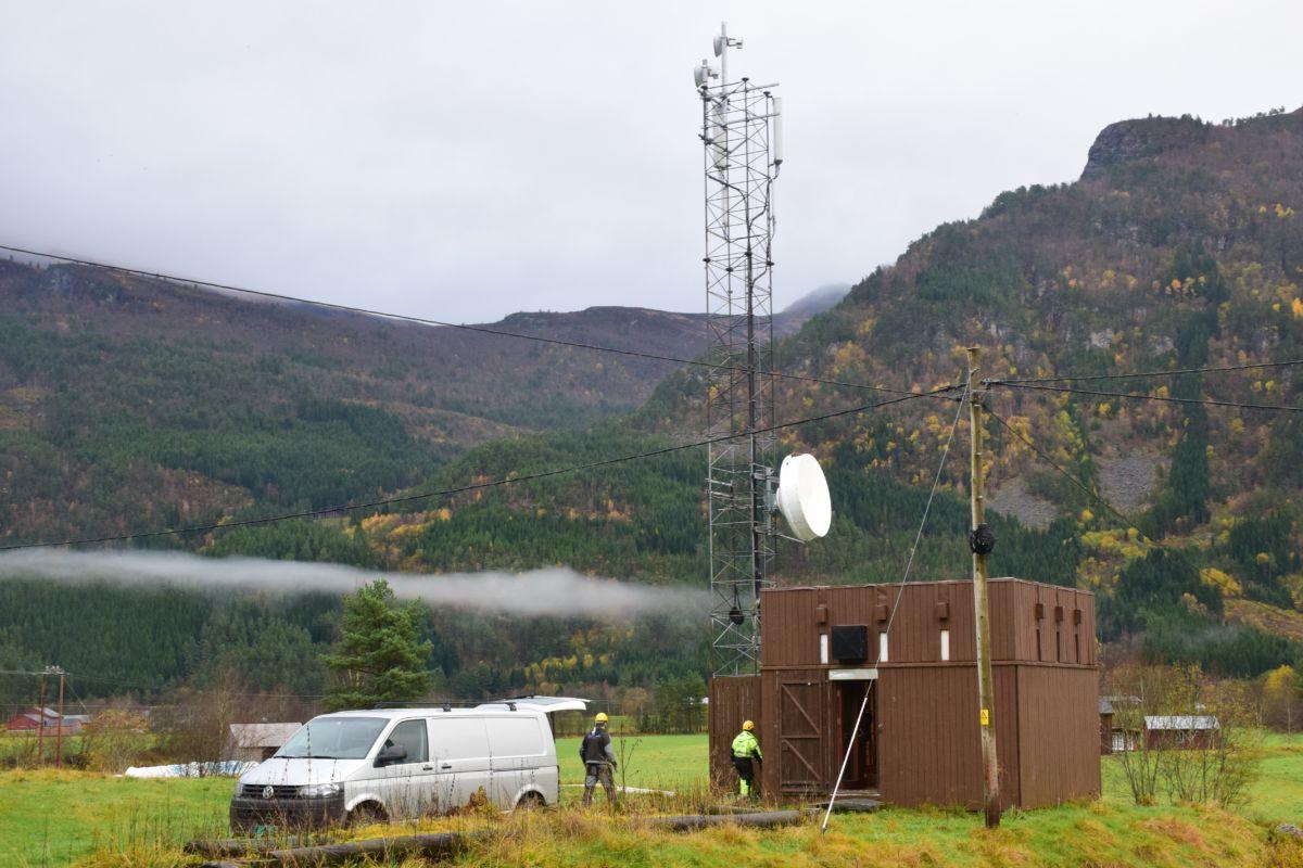 No blir Telenor Mobils sentral oppgradert.  Foto: Jon Olav Ørsal