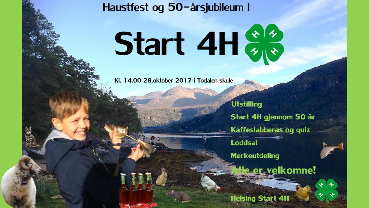 Start 4H byr på haustfest og jubileum - kjem du?