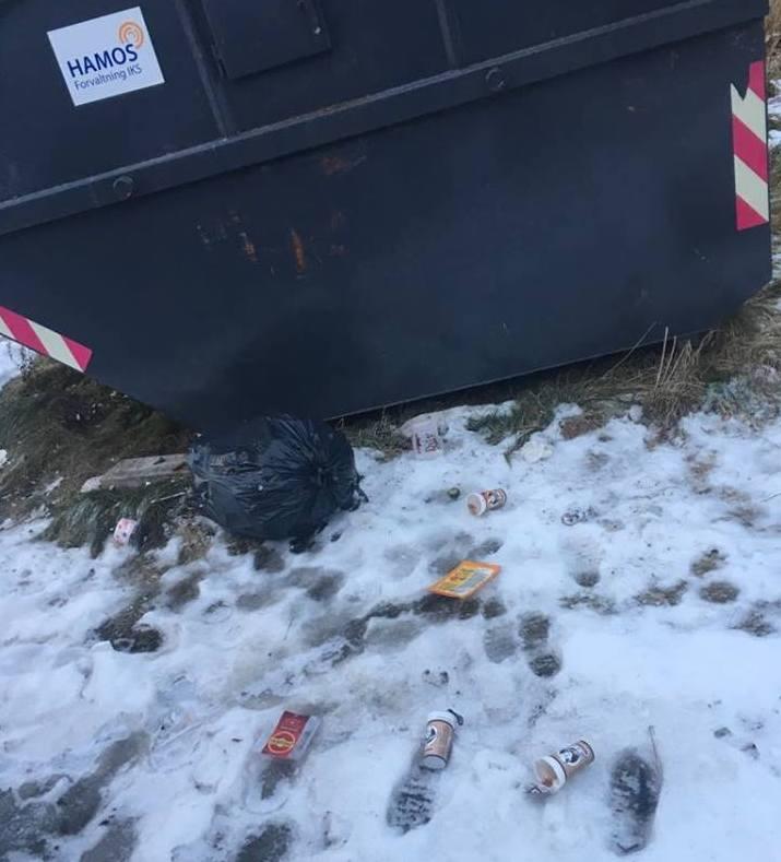 Lei av at søppelet flyt