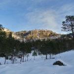 Svarthammaren  i  vinterdrakt.