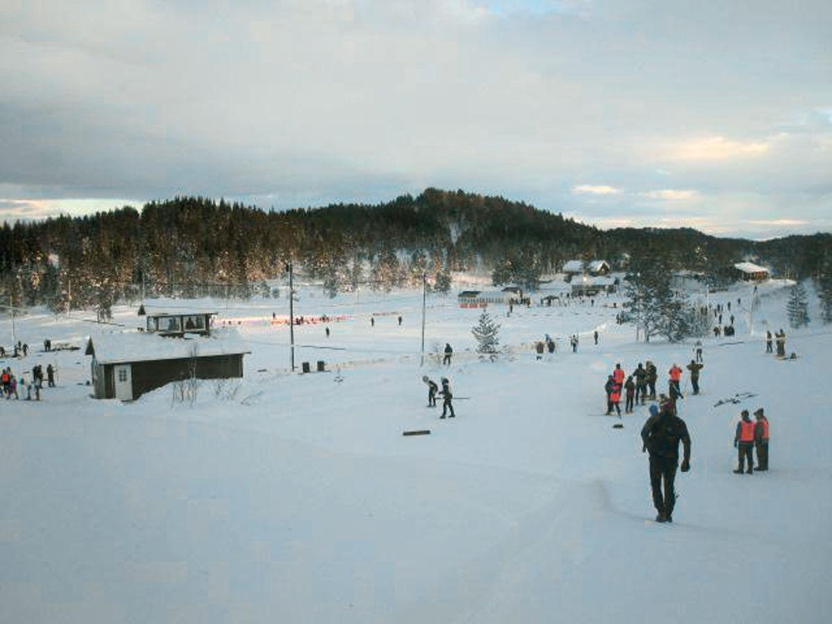 Kretsrenn og sonerenn på Nordmarka 14. januar.  Foto: SIL