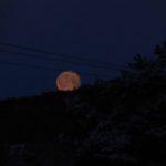 Supermånen  går  ned