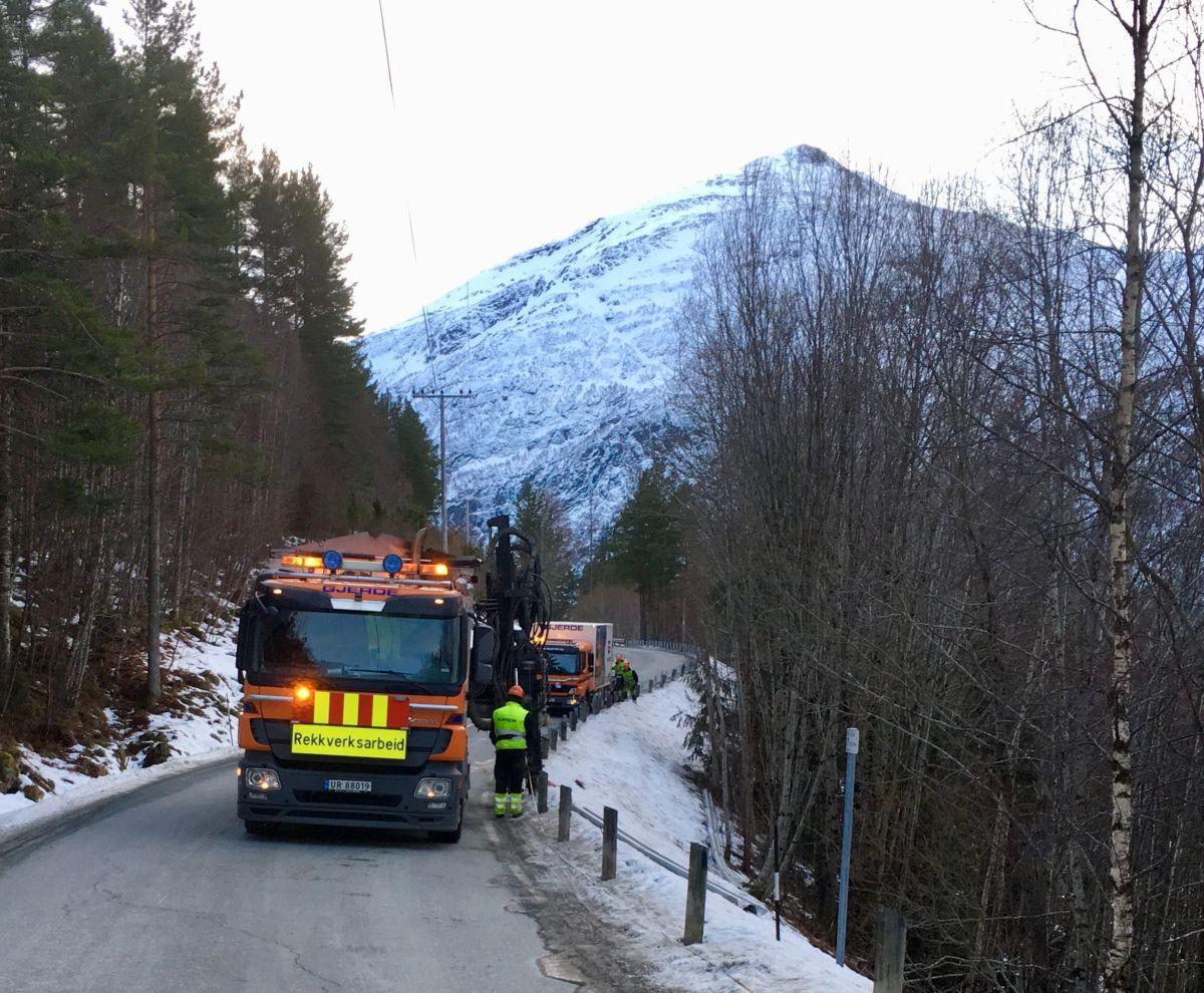 Utbetring  av  glidekant  på  Nordvik