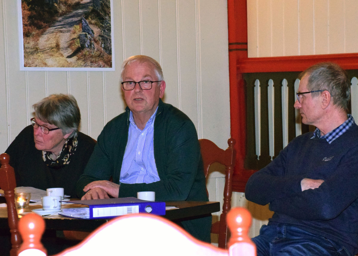 Styrebordet - frå venstre sekretær Wenche Kvendset, leiar John Moe og kasserar Sven Olav Svinvik   Foto: Jon Olav Ørsal