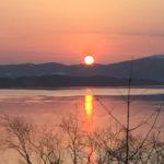 Solnedgang  frå  stuåglaset  i  Steinen  14.april.