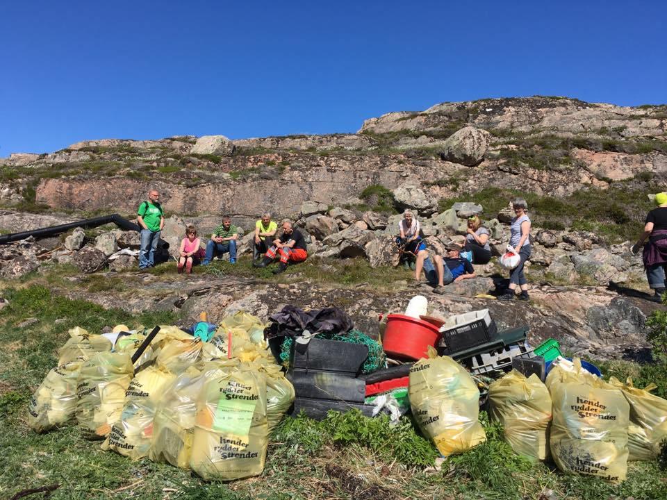 Strandryddibng på gang!  Foto: Hamos