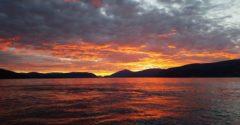 Solnedgang på Stangvikfjorden