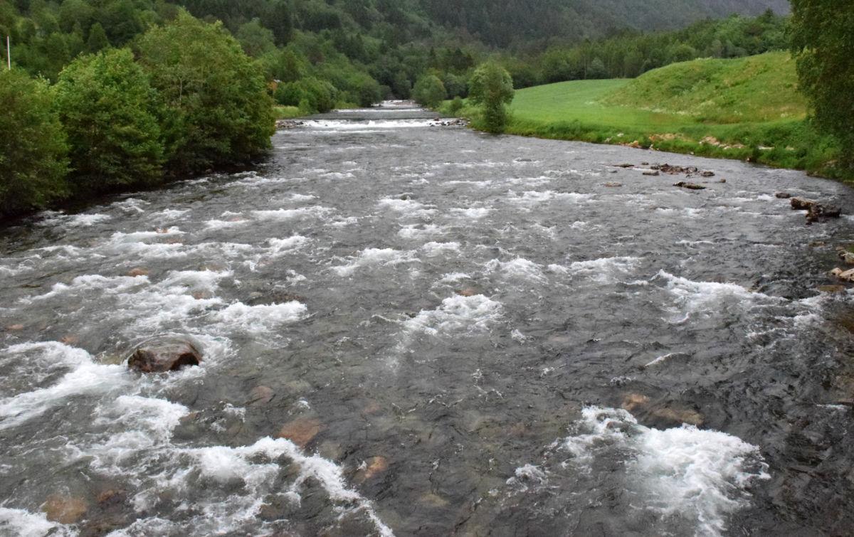 Slik ser Toåa ut i dag, oppstrøms Brusetbrua. Foto: Jon Olav Ørsal