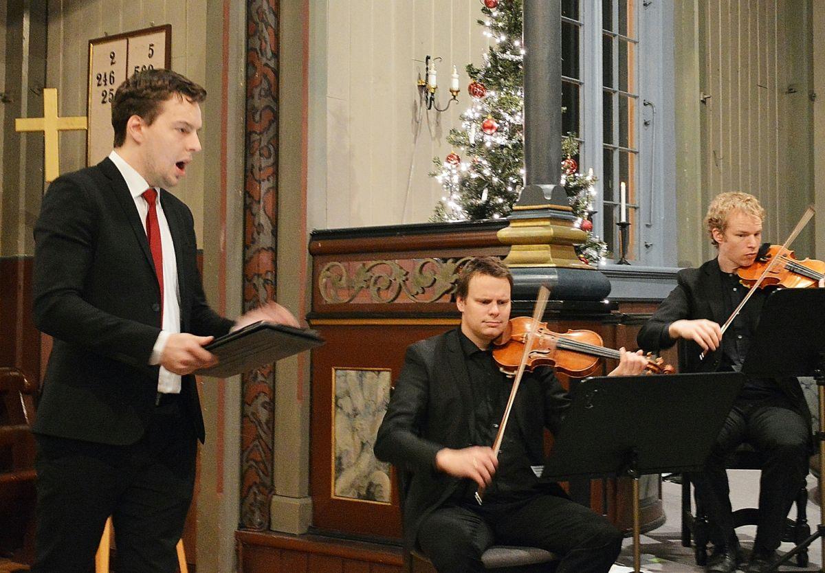 Erik Rosenius, Trond Harald Saltnes og Odd Sonntag er sentrale aktørar i konserten. Foto: Bernt Bøe