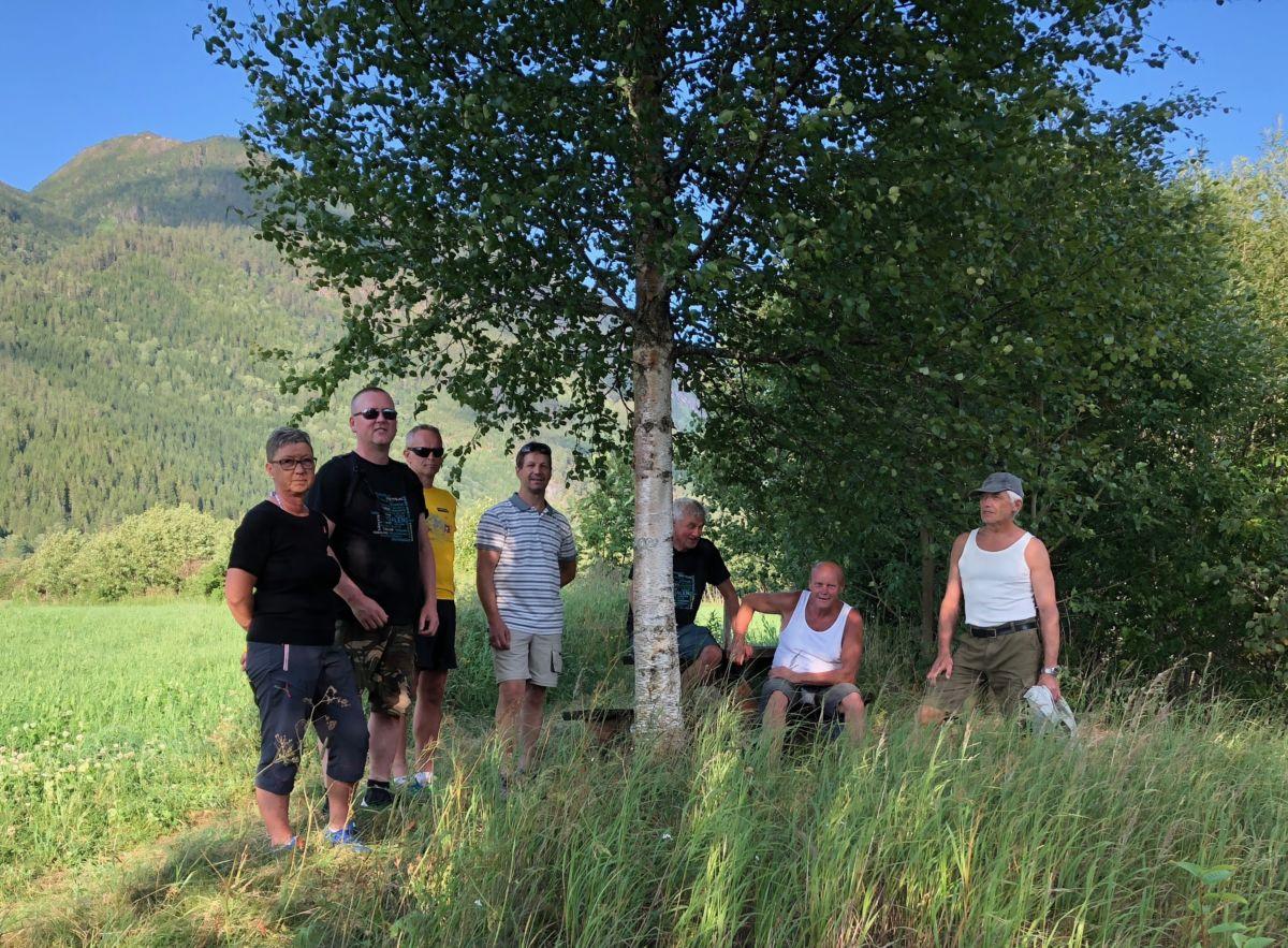 På  befaring  i  samarbeidsprosjektet  Toåa  tursti