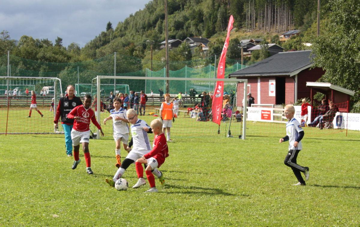 Fotballglede i sentrum