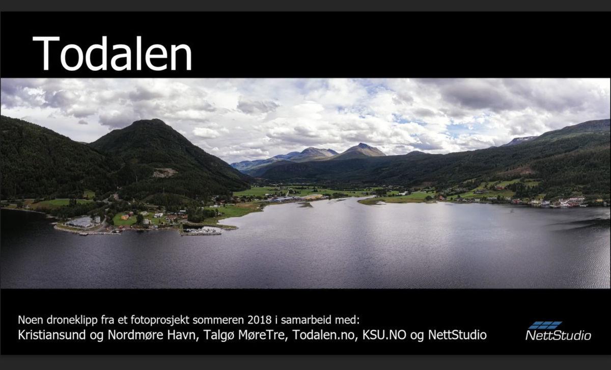 Unike bilder frå luftrommet over Todalen -  foro: Steinar Melby/NettStudio