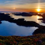 Solnedgang  i  Flatanger.