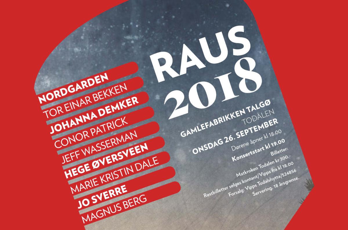 Rauskonserten er tilbake på Gammelfabrikken - Raus 2018 kommer 26. september!