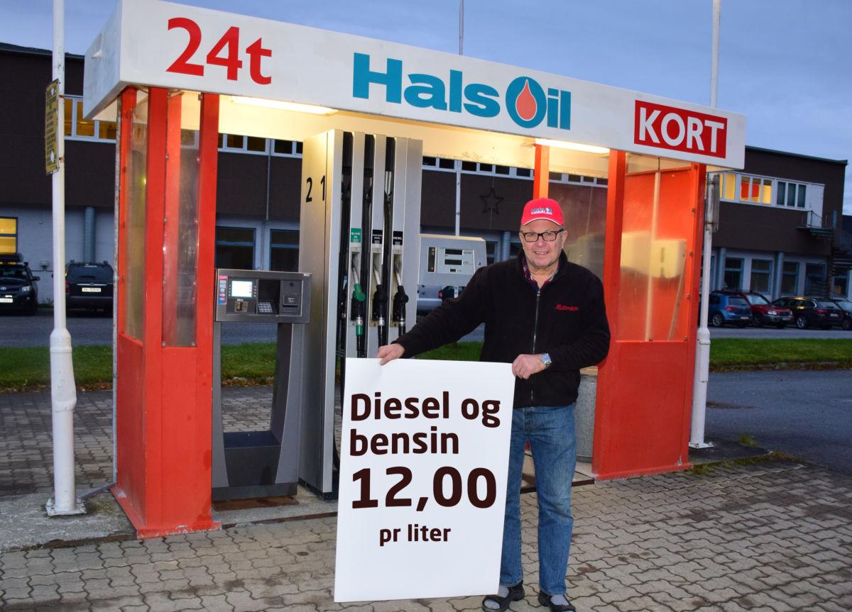 Knallprisar på verdens beste drivstoff frå butikken opnar og til kl 15.00. Foto: Jon Olav Ørsal