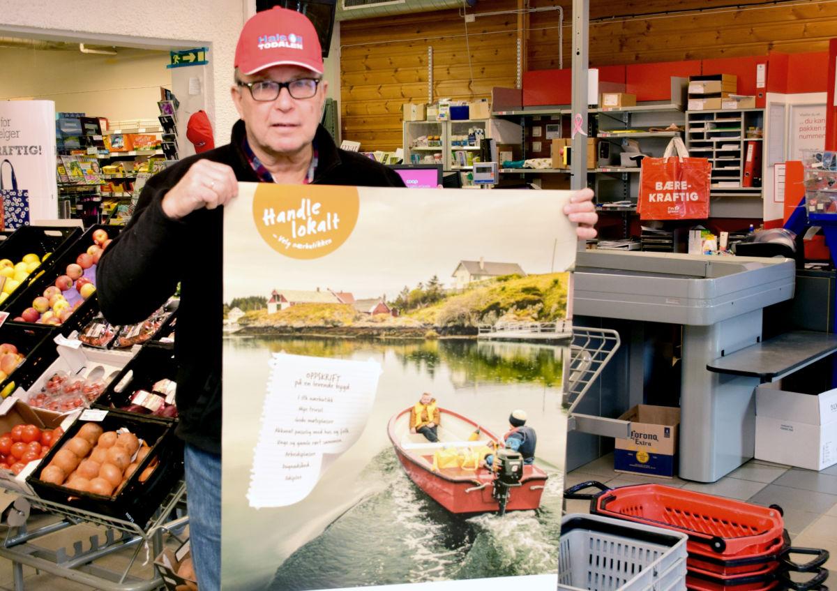 Markerer lokal handledag førstkomande laurdag - da blir det gratis kaffe og blautkake frå kl 10 og utover....  Foto: Jon Olav Ørsal