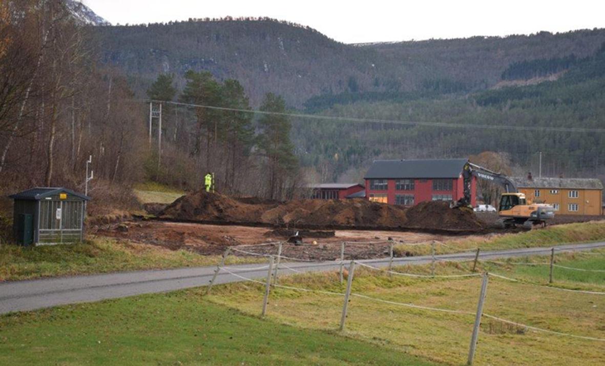 Bilde frå området der funna i Hallagrenda vart gjort.  Foto: Jon Olav Ørsal