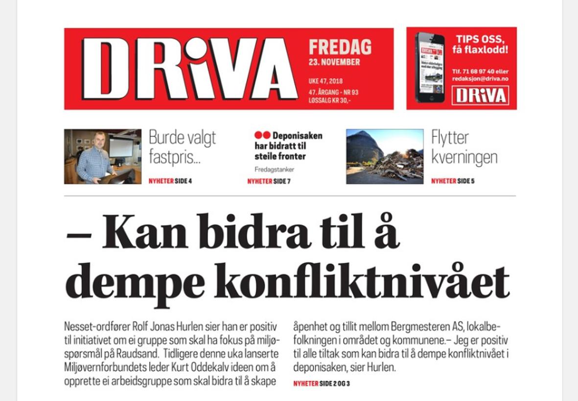 Driva: – Distribusjonskrøll, men no har alle fått avisa