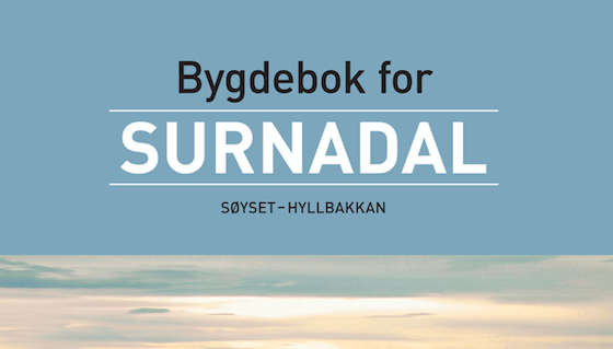 Band 3 av «Bygdebok for Surnadal» er her!