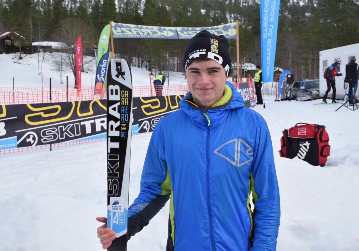 I mars blir det tur til Sveits og Randonee-VM for Erik Kårvatn.  Foto: Jon Olav Ørsal