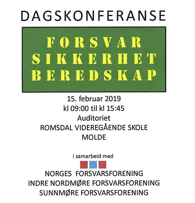 Inviterer  til  dagkonferanse  om  forsvar  –  sikkerhet  og  beredskap