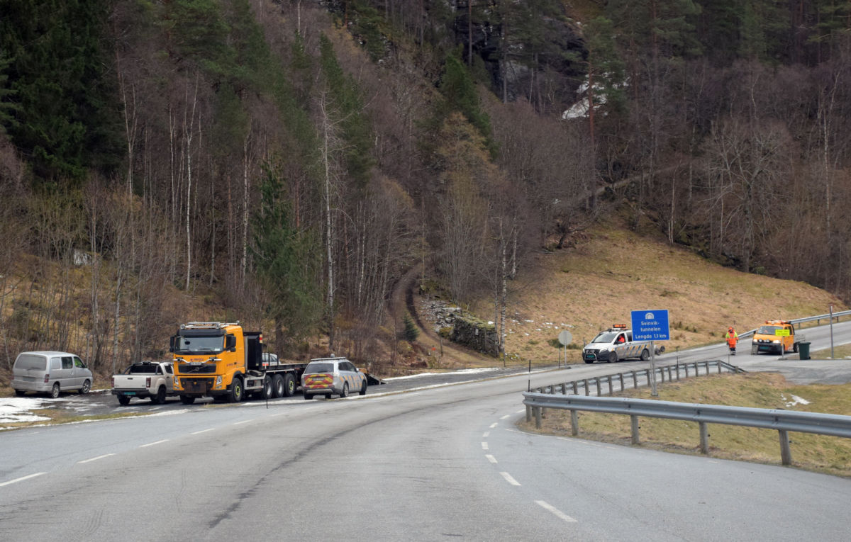 Tunellkontroll på gang!  Foto: Jon Olav Ørsal