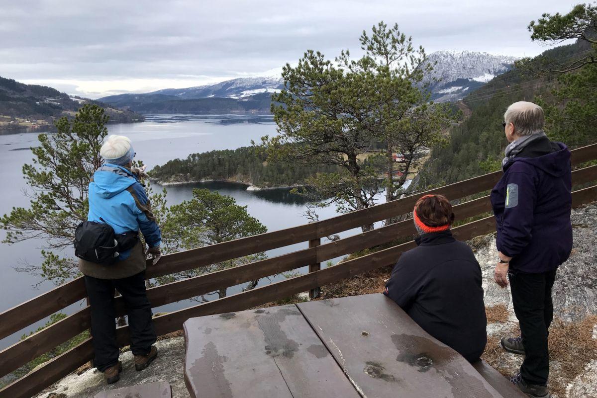 Utsikt utover fjorden frå Kammen. Foto: Dordi J H