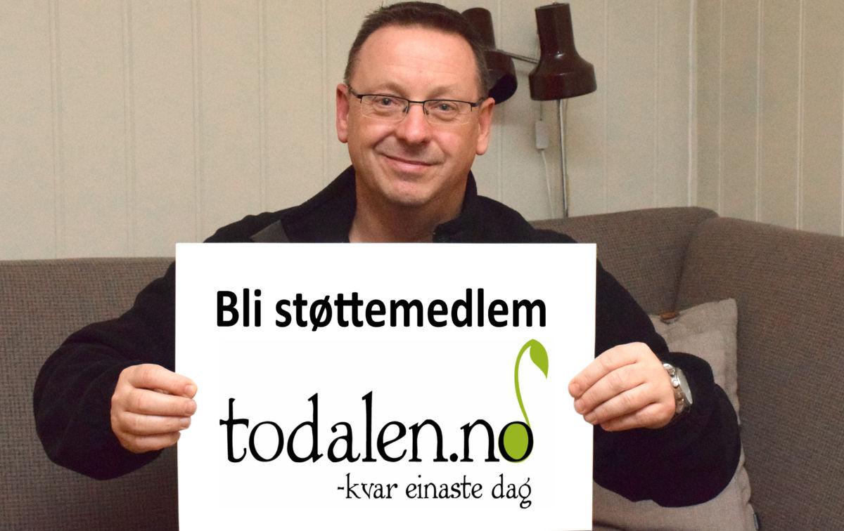 Bli med som støttemedlem oppfordrar styreleiar Stig Husby.  Foto: Jon Olav Ørsal