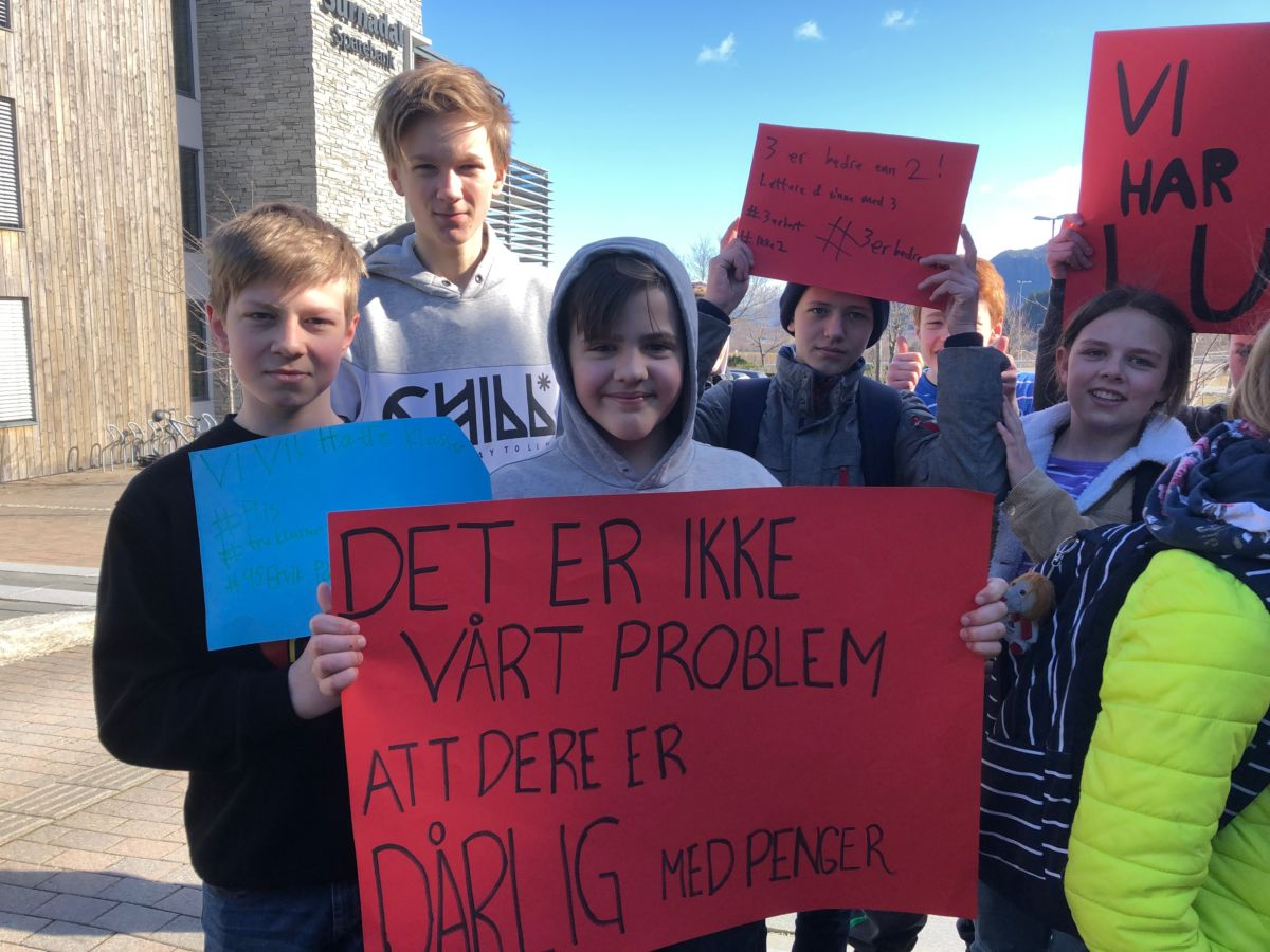 Klar beskjed frå ungdommane; ikkje kødd med klassane våre!