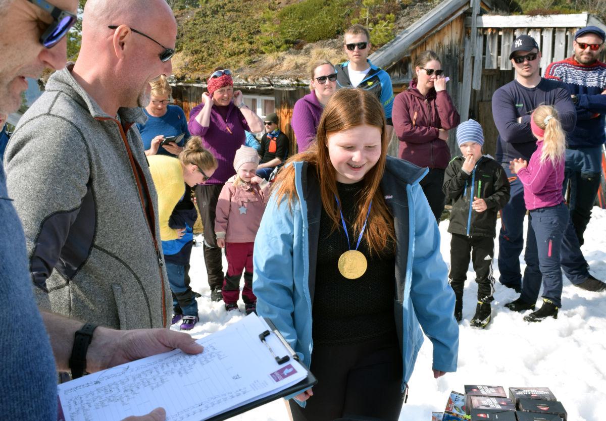 Synnøve nordvik gikk til topps i seterrennet - bomma berre på 2 sekund på idealtida.  Foto: Jon Olav Ørsal