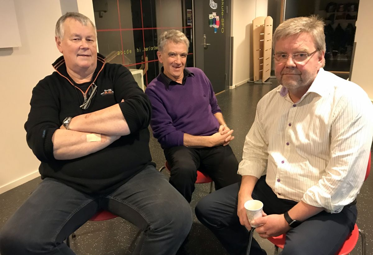 Forfattarane, frå venstre: Erling Myrbostad, Torbjørn Polden, Lars Steinar Ansnes. Foto: Dordi J H