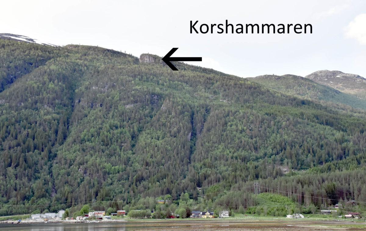 Bli med trimgruppa til Korshammaren 2. pinsedag.  Fotomontasje: JOn Olav Ørsal