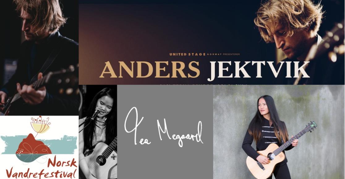 Gå ikke glipp av konserten med Anders Jektvik! Fotomontasje: Norsk Vandrefestival.