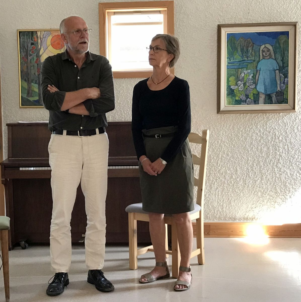 Odd Ingar Skrøvseth og Gjertrud Hals Skrøvseth i Kallastuå. Foto: Dordi J H