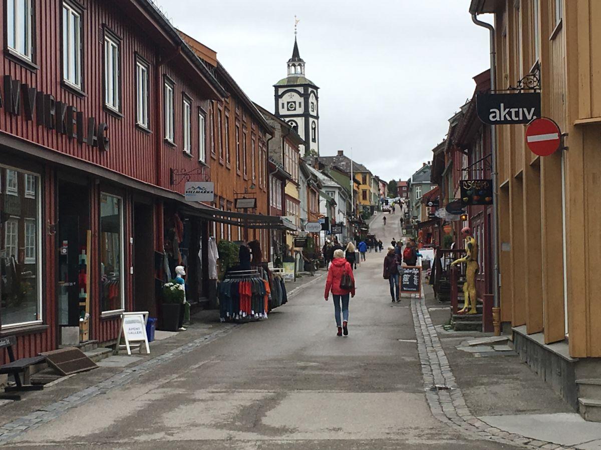 Kirkegata på Røros.  Foto: Jon Olav Ørsal
