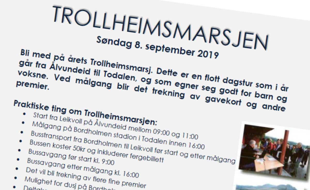 Søndag  er  det  klart  for  årets  Trollheimsmarsj  –  blir  du  med?