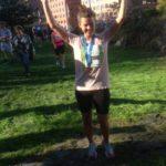 Ingrid  Helene  etter  målgang  på  Oslo  (halv)  maraton