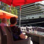 Cruise  turistar  i  Flåm