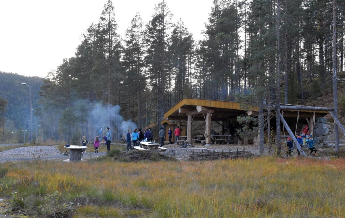 Gapahuken på Tjønnmyran arkivfoto: Jon Olav Ørsal