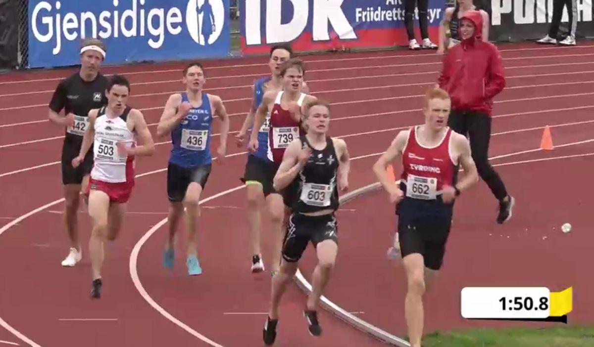 I siste sving sett Erik inn støtet og går inn på bestetid for heat nr 2.  Foto: direktesport.no
