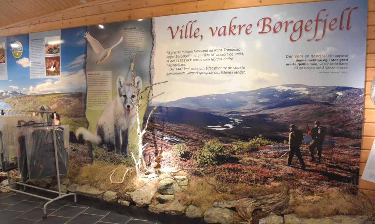 Frå infosentret i Røyrvik ved porten til Børgefjell.  Foto: JOØ