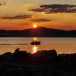 Solnedgang  i  Bukta,  Stangvik