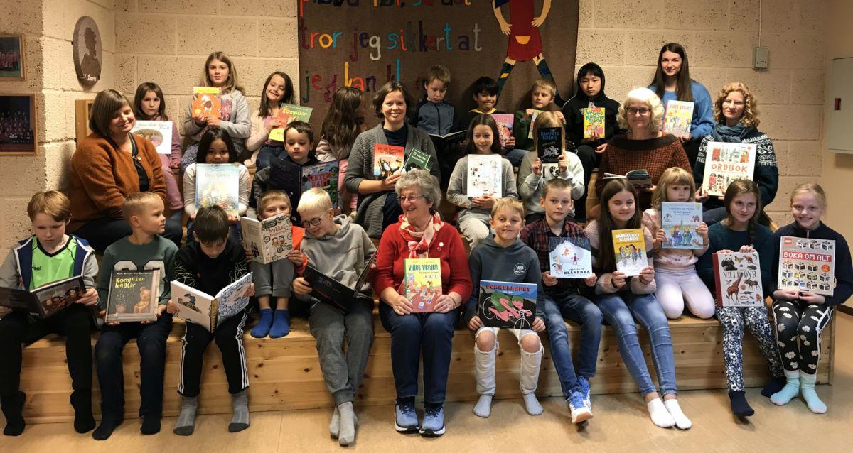 Populært med nye bøker! Foto: Dordi J H