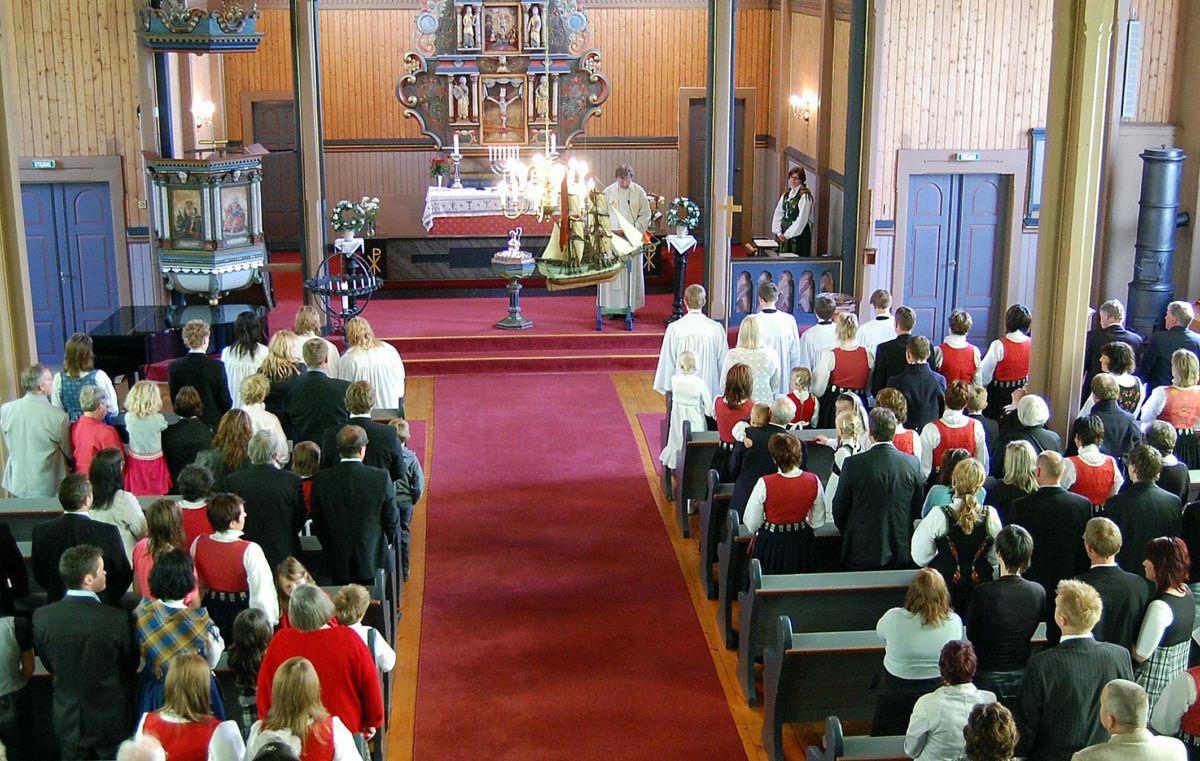 Frå Stangvik kyrkje - illustrasjonsfoto Bernt Bøe
