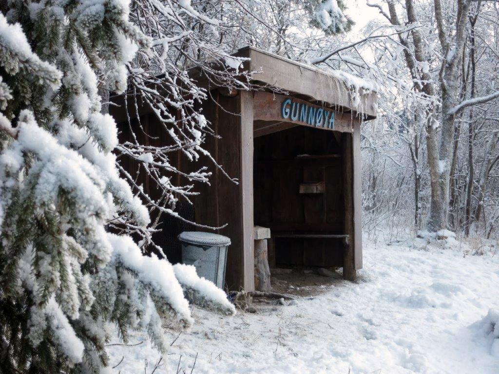Reine julkortstemninga i Gunnøya i dag!  Foto: Jon Olav Ørsal