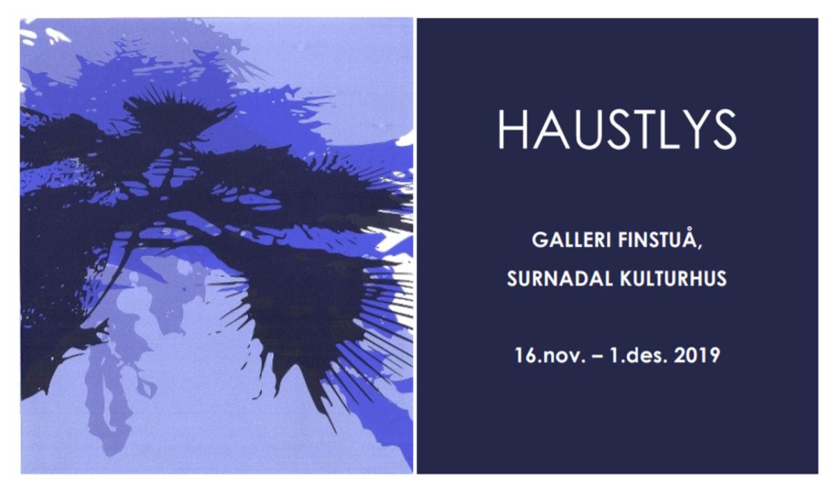 Haustlys – invitasjon til opning av kunstutstilling i Finstuå