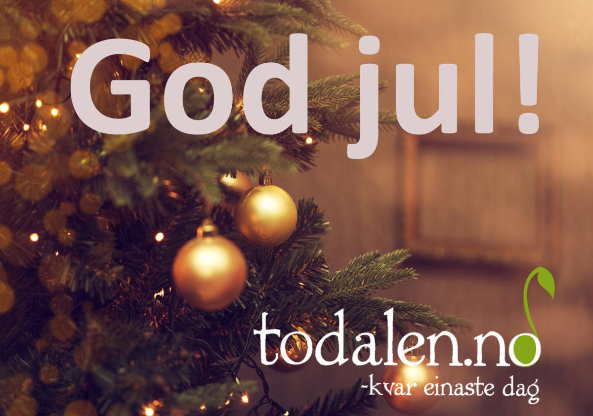 God jul til alle våre lesarar