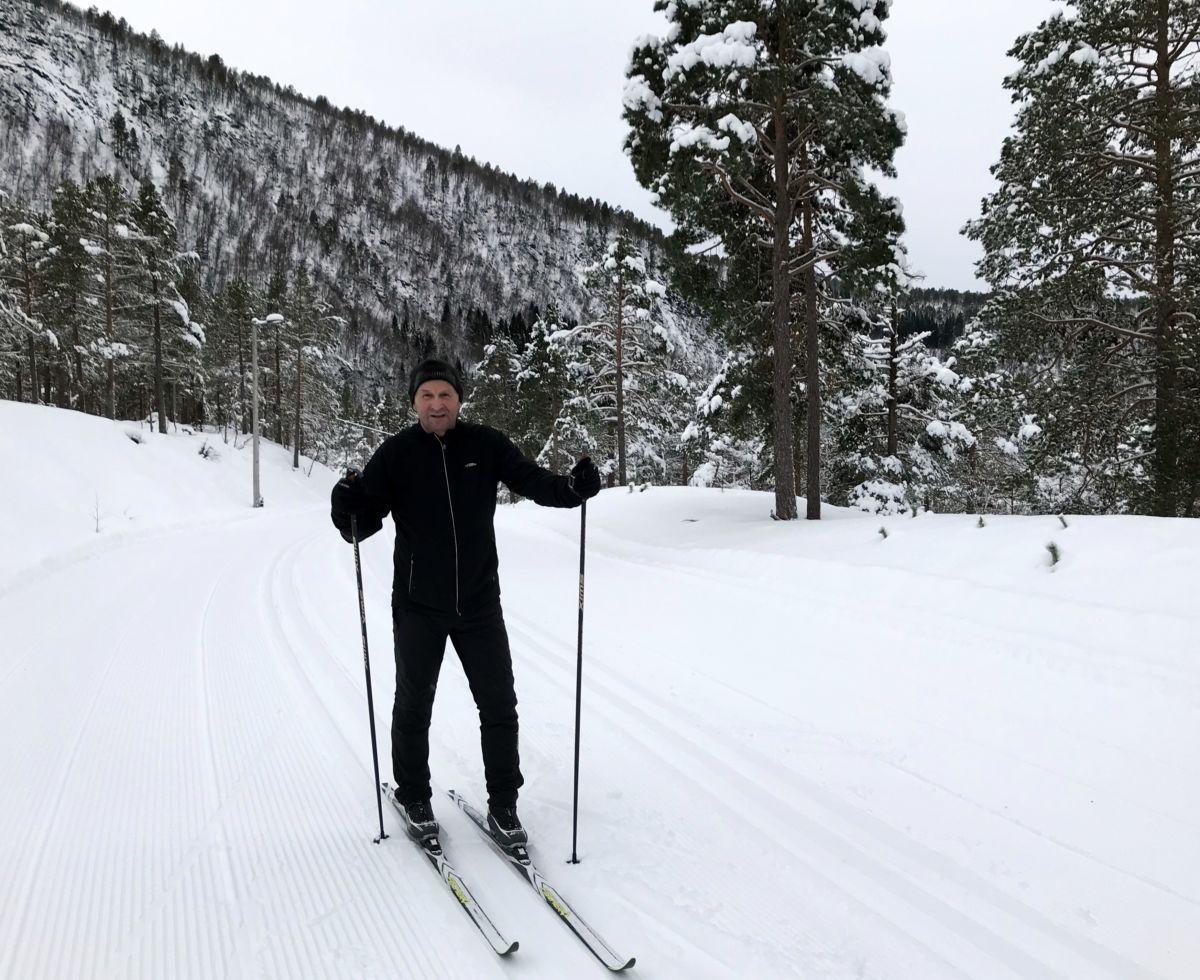 Første skituren denne sesongen. Foto Dordi J H