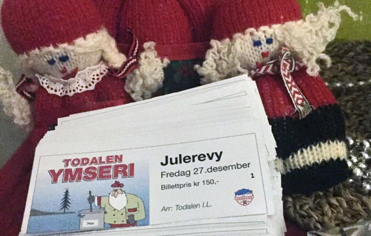 I kveld kl 20: Julerevyen Todalen Ymseri